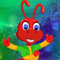 Play Games4King Red Ant Escape
