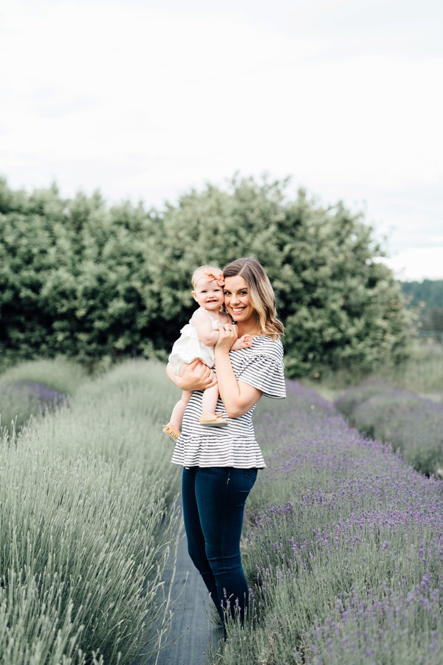 Dreamy Lavender Farm Family Photo Session by Something Minted and Something More Photography