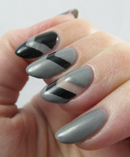 Chevron Negative Space Nails