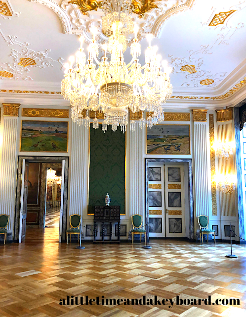 The Green Reception Room where art folds into the design at Christiansborg Palace