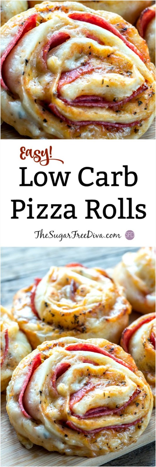 Easy Low Carb Pizza Rolls