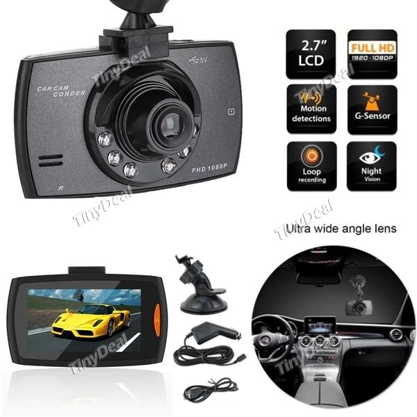 "2.4"" LCD 1080P Full HD Car DVR Camera Video Recorder w/ Night Vision"
