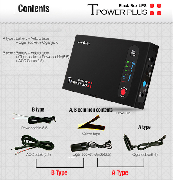 BlackVue Malaysia (Vehicle Black Box): ANYPOWER T-Power PLUS