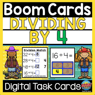 Engaging and fun math Division practice freebie for digital learning and summer review for 3rd grade math, 4th grade math and 5th grade math