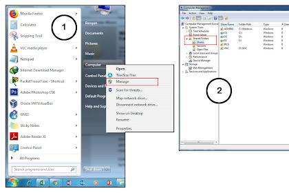 Pengertian, Manfaat dan Cara Shared / Sharing Folder di Komputer Windows 7