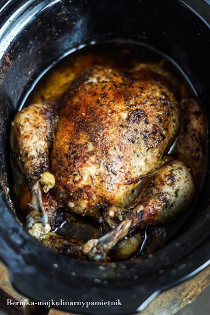 kurczak, wolnowar, obiad, drob, wolne gotowanie, bernika, kulinarny pamietnik