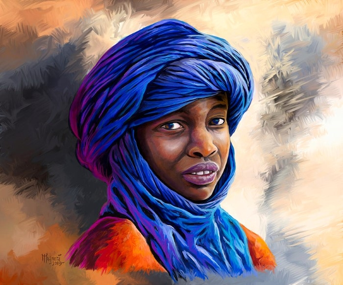 Кенийский художник.