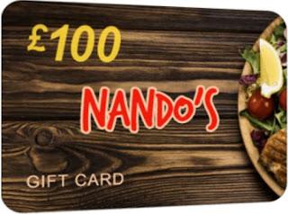 Nando's £100 ( For UK)