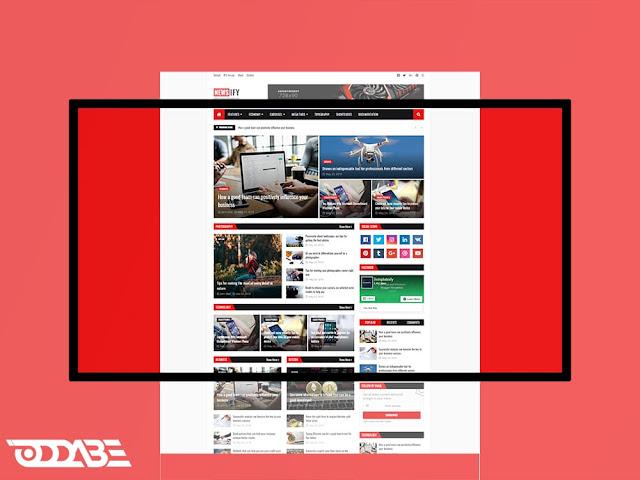 oddabe - newsify blogger template