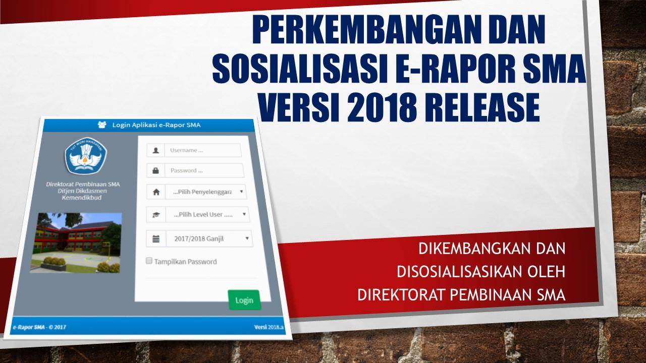 E-Rapor 2018 Release dan cara instalasinya.