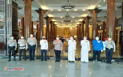 Polsek Percut Sei Tuan Laksanakan Pengamanan Beberapa Vihara Sambut Waisak di Wilkumnya