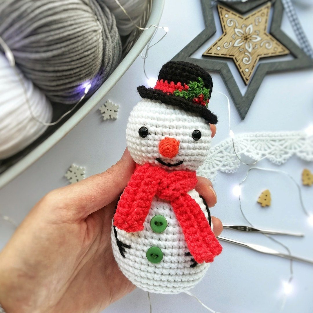 Crochet Little Snowman Amigurumi Free Pattern - Amigurumi Crochet ... | 1080x1080