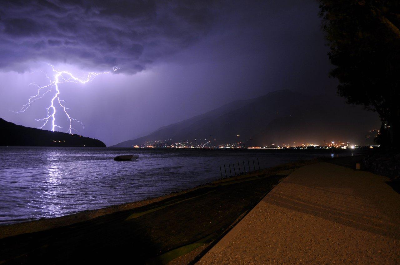 Beach Thunderstorm Wallpaper