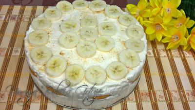 Deser  Bananowy - Tort bananowy