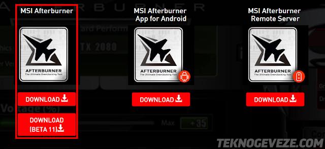 MSI Afterburner kullanımı