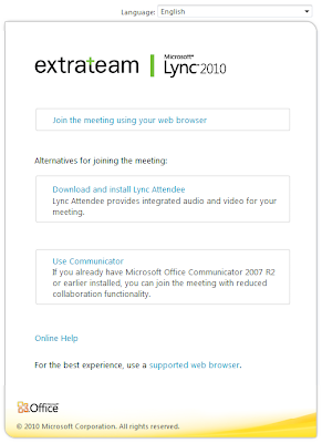 The EXPTA {blog}: How to Force Using the Lync Web App