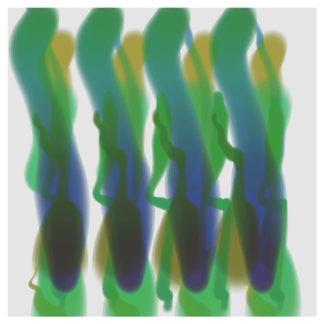 The position, size, and color with the Perlin noise create an interesting painting.