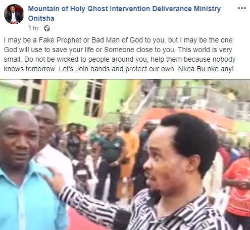 I may be a Fake Prophet or Bad Man of God to you, but I may be the one God will use to save your life - Controversial clergyman, Odumeje tells critics