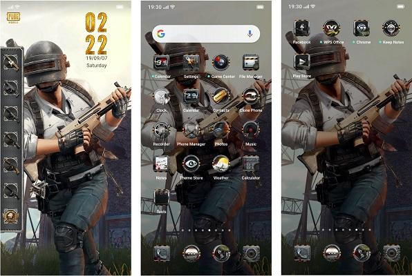 OPPO PUBG MOBILE smartphone theme