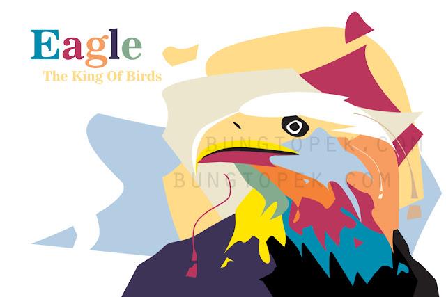 Eagle in Pop Art Portrait