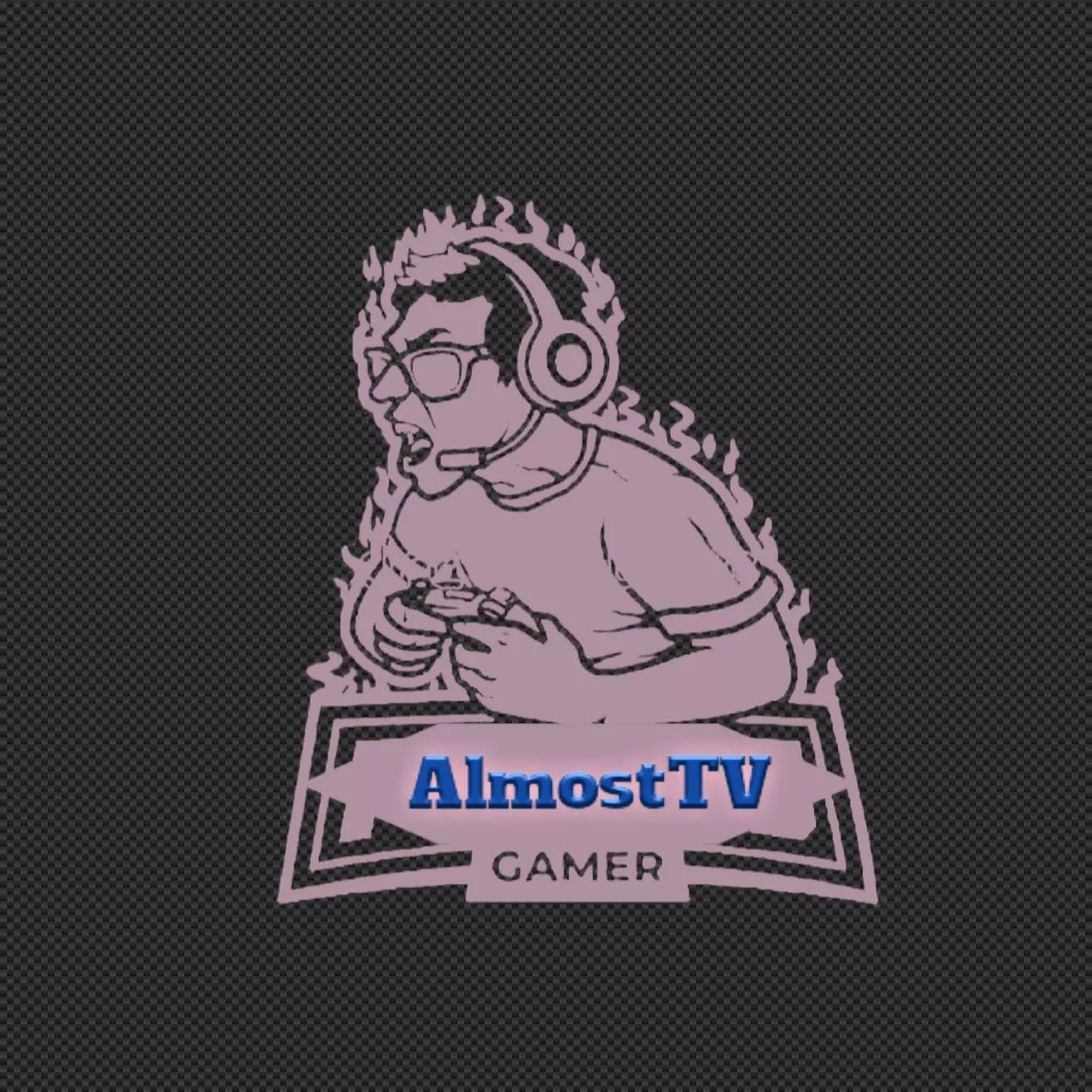 AlmostTV logo design for YouTube Channel