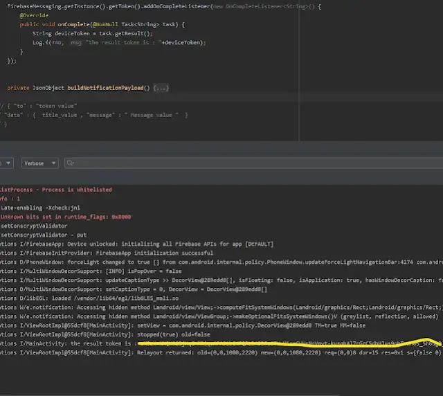كيف تقوم بارسال رسالة مخصصه لشخص معين بإستخدام Firebase