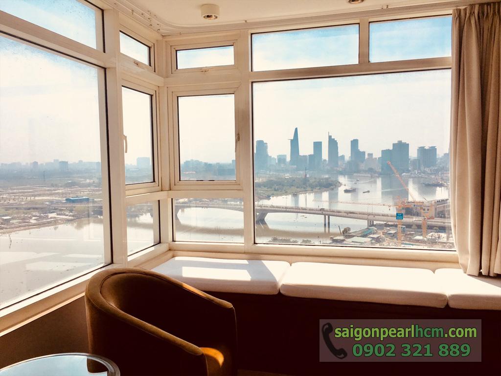 Cho thuê Saigon Pearl căn hộ 4 phòng ngủ 206m2 Ruby 1 view sông Sài Gòn - hình 2