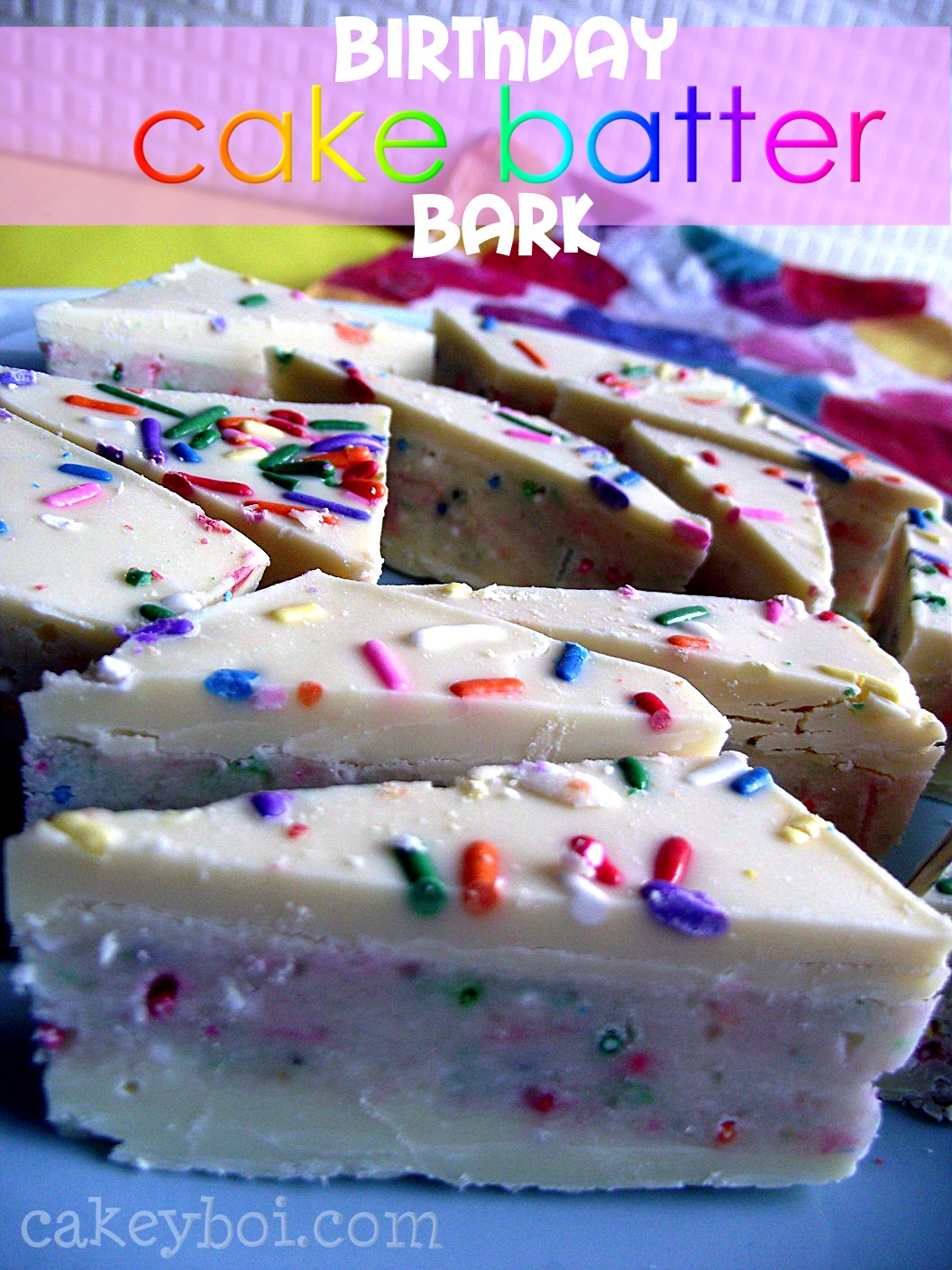 Birthday Cake Bark