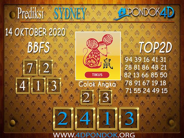 Prediksi Togel SYDNEY PONDOK4D 14 OKTOBER 2020