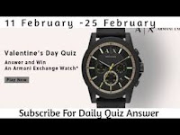 Amazon Armani Exchange Quiz Answers 11-Feb-2021