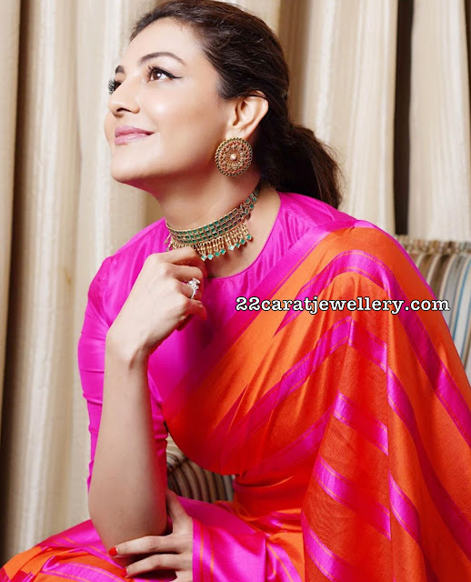 Kajal Agarwal in Kundan Fancy Choker