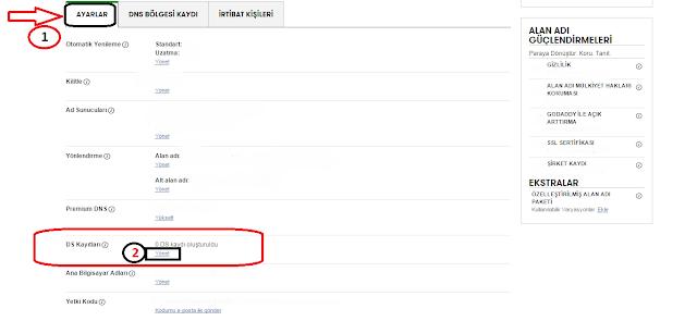 GoDaddy Domain İşlemleri