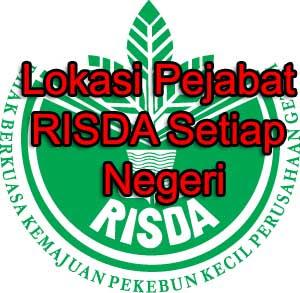 lokasi pejabat RISDA setiap negeri