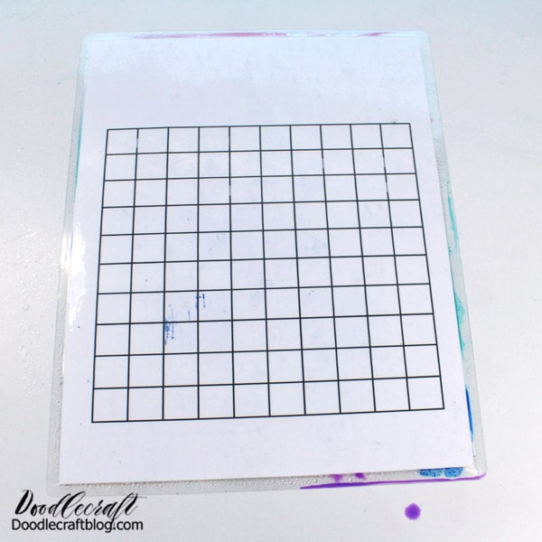 Then, press the Blending Palette onto the photo paper.