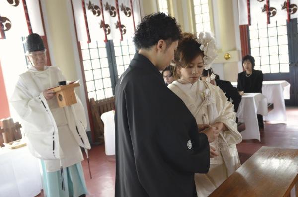 御霊神社での結婚式