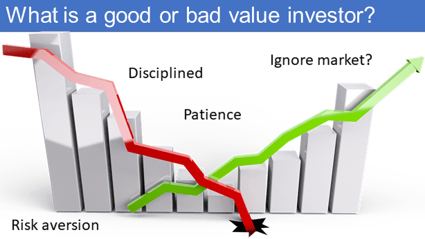 What differentiates between a good or bad value investor