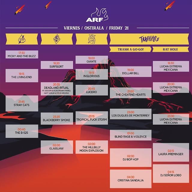 azkena, rock, festival, vitoria, horarios, wilco, mendizabala, stray cats, 2019, viernes, junio