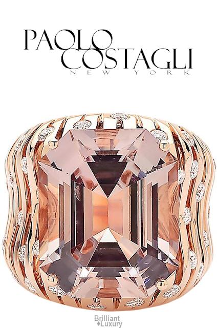 Brilliant Luxury♦Paolo Costagli Tourmaline and Diamond Cocktail Ring