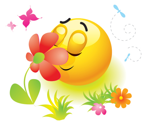 Spring emoticon