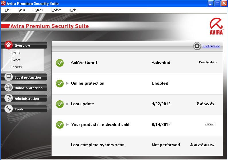 Avira Premium Security Suite 2013 + Key Files - Free