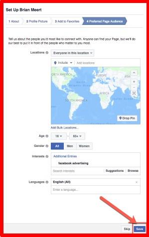 create fan page on facebook steps