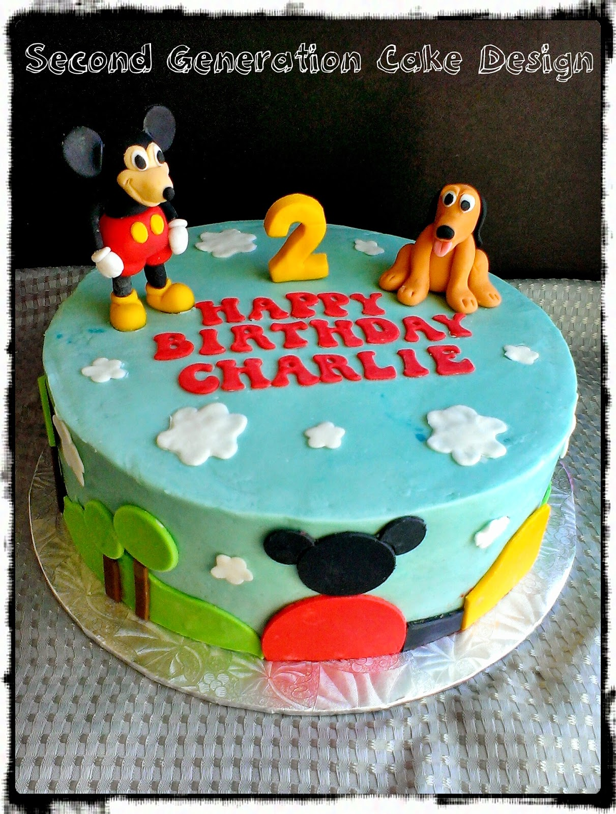 Charlie Wanted Mickey And Pluto On His Cake This Is The First Time I Had Modeled In 3d Was SO Happy With How He Turned Out