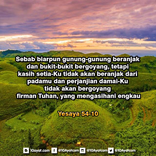Yesaya 54:10
