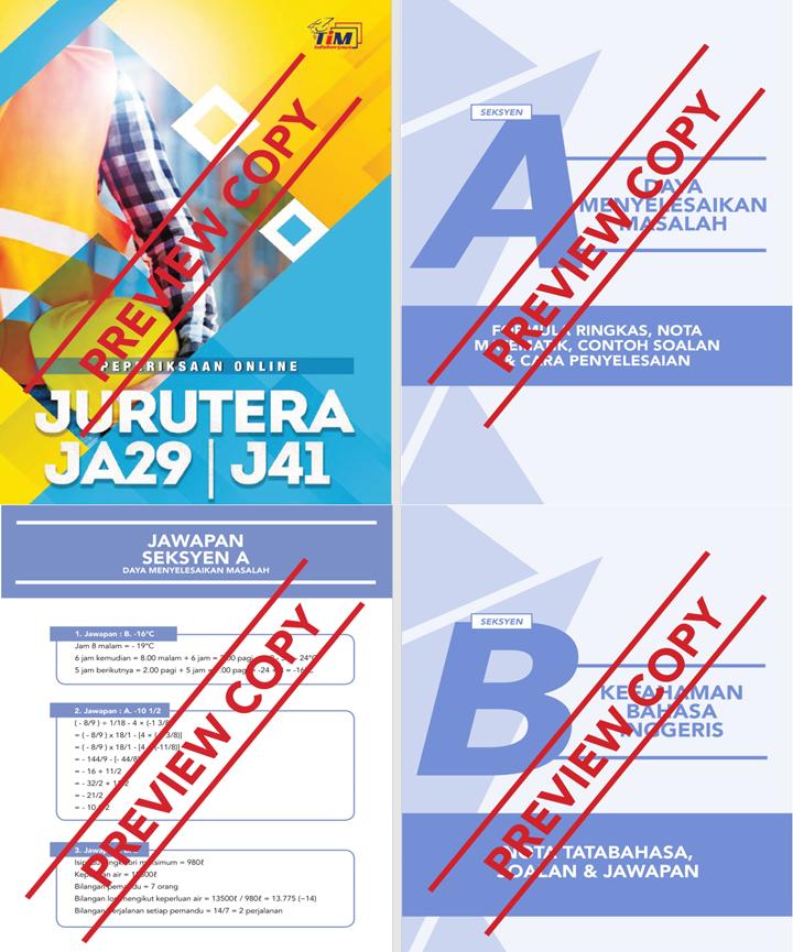 Rujukan Contoh Soalan PSEE Jurutera JA41 dan Penolong Jurutera JA29