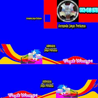 Download Livery Bus Armada Jaya Perkasa Trayek Wonogiri Biru