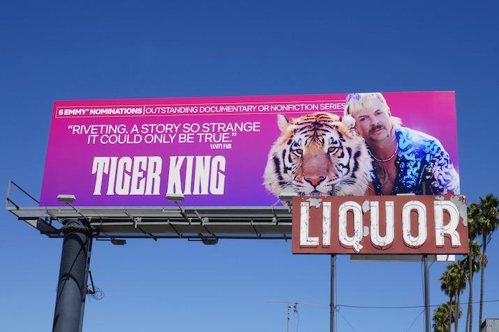 Tiger King 2020 Emmy nominee billboard