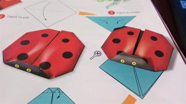 biedronka z origami