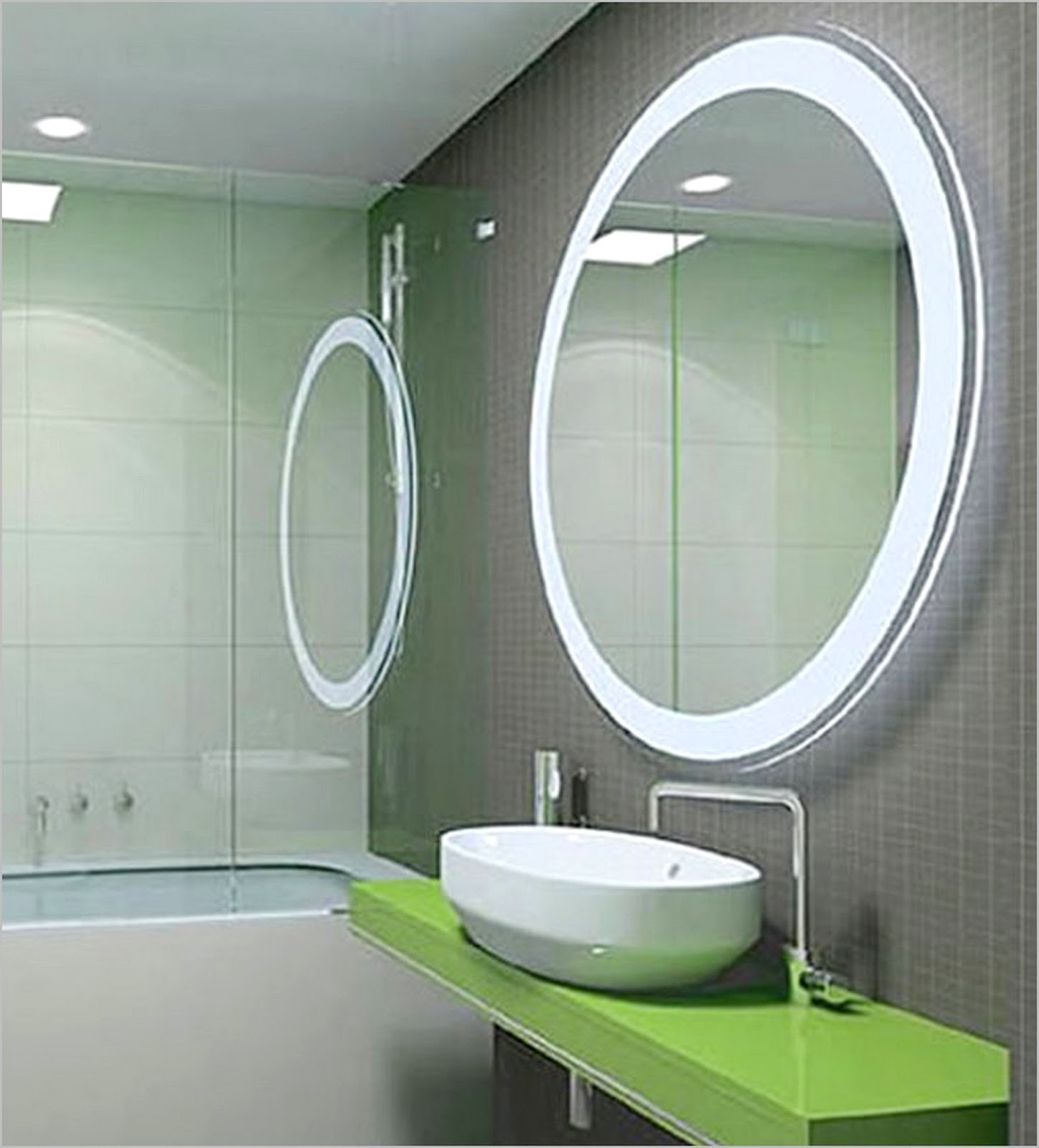 fresh led bathroom mirrors
