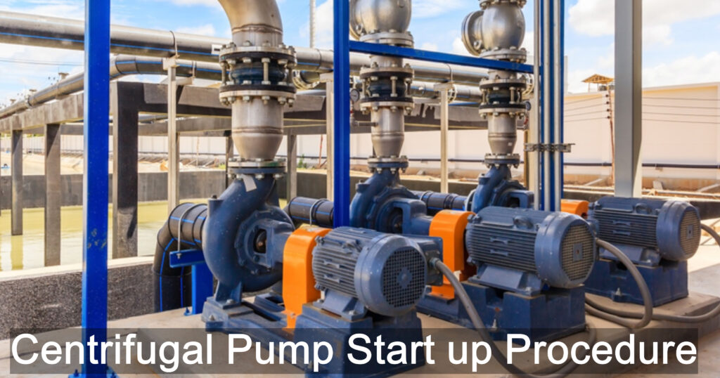 centrifugal pump startup