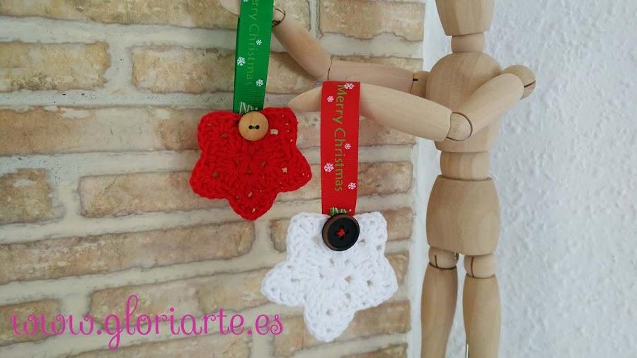 estrellas de navidad de crochet